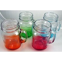 Yorkshire Mason Jar Mug in Assorted Colors、4ピース、各17.5 Oz Square
