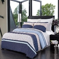 Park Ave Luxury 3PC Printed Duvet cover set, 100% Microfiber (King /California King) by sheetsnthing...