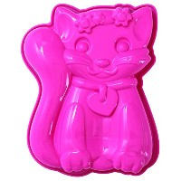 Pavoni FRT174 Platinum Silicone Sophia-Cat Mini Cake Mould, Pink by Pavoni