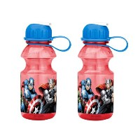 Zak! Designs Tritan Water Bottle with Flip-up Spout with Avengers Graphics, Break-resistant and BPA...