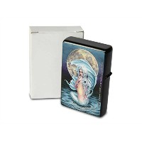 S. Fenech Pocket Vintage Windproof lighter ライター Brushed Oil Refillable Mermaid Moon