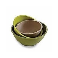 Pampered Chef竹繊維Mixing Bowls–マルチカラー