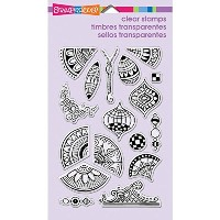 "Stampendous Perfectly Clear Stamps 4""X6"" Sheet-Penpattern Repeat (並行輸入品)"