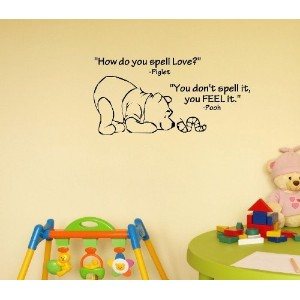 Click Down Winnie the Pooh Wall Decor Decal Sticker by Click Down