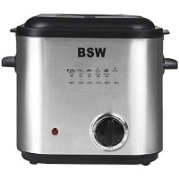 BSW Electric Mini Durable Stainless Teflone Coated Fryer BS-15084-DF Fondue Cooker 220V & Free Gift...