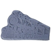 "Class Act Cling Mounted Rubber Stamp 2.75""X3.75""-Train 2 (並行輸入品)"