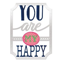 Sizzix Thinlits Dies 4/Pkg-You Are My Happy Phrase (並行輸入品)