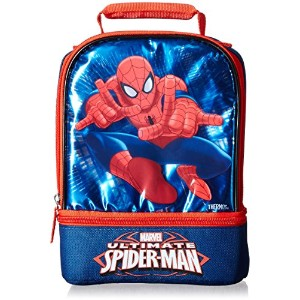 Thermosサーモス製 スパイダーマン 保冷・保温2段式ランチバッグ(弁当袋・かばん・子供・キッズ)
