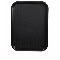 Winco FFT-1014K Fast Food Tray, 10-Inch by 14-Inch, Black, Set of 12 by Winco