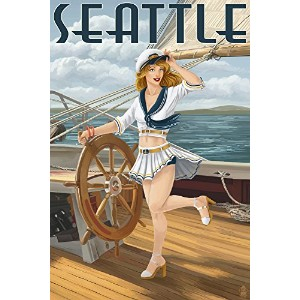 Sailor Pinup Girl – シアトル 16 x 24 Giclee Print LANT-33688-16x24