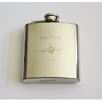 SKY FLASK Stainless Steel Flight Flask - 3 oz by Sky Flask