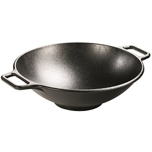 Lodge Pro-Logic P14W3 Cast Iron Wok, Black, 14-inch by Lodge