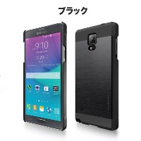 Galaxy Note 4 ケース カバー【motomo 正規品】INO METAL Galaxy Note 4 (GALAXY NOTE4, ブラック)