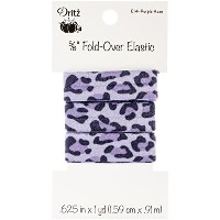 "Fold-Over Elastic 5/8""X1yd-Leopard - Purple Haze (並行輸入品)"