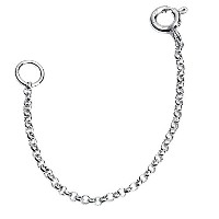 "925 Sterling Silver 3"" Necklace Extender Chain"