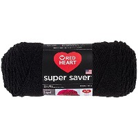 Coats Yarn RED HEART super saver 毛糸 極太 ブラック 198g 約333m