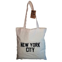 NYC Tote Bag New York City 100% Cotton Canvas Screenprinted by NYC FACTORY