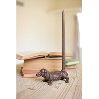 Cast Iron Dachshund Paper Towel Holder-rustic, 6.25 X 12 in by Kalalou