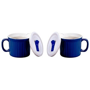 Corningware Pop-Ins 20-Ounce Mug with Blue Vented Plastic Cover, Blueberry by CorningWare