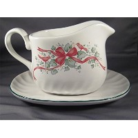 Corelle座標Callaway Holiday Stoneware Gravy Boat with Underplate