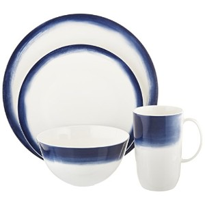 Wedgwood Vera Simplicity Indigo Ombre 4-piece Place Setting、ホワイトby Wedgwood