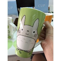 Totoro Mug With Silicone Lid Color Green by Cup Talk