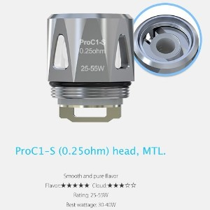 Joyetech ProC Series Heads ProCore Aries 用交換コイル (ProC1-S 0.25Ω)