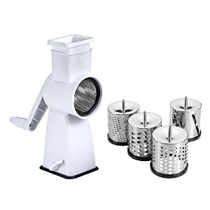 Metaltex 251626084 Mechanical Kitchen Grater with Flash Suction Base