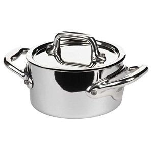 Mauviel - Collection m'minis - 9 cm casserole and lid stainless steel