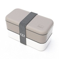 Monbento MB Original Bento Box (Grey & White W/ Grey Band) by monbento