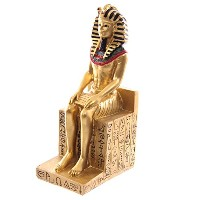 Gold Egyptian Seated Ramases Figurine