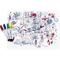 modern-twist Kids Mark-Mat Silicone Coloring Placemat with 4 Dry-Erase Markers, Texas by modern...