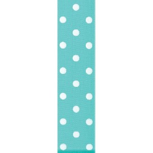 Offray Polka Dot Grosgrain Craft Ribbon, 1-1/2-Inch Wide by 50-Yard Spool, Diamond Blue by Offray