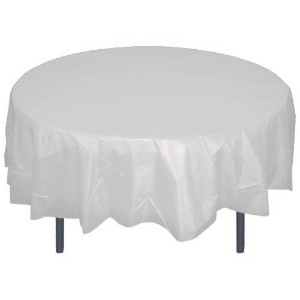Premium Plastic Tablecloth 84in. Round Table Cover - Clear by Exquisite
