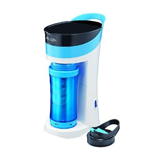 Mr. Coffee Pour! Brew! Go! 16-Ounce Personal Coffee Maker with Insulated TO-GO mug, Caffeine Blue,...