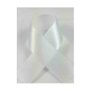 Schiff Ribbons 2244-5 20-Yard Polyester Double Face Satin Ribbon, 7/8-Inch, White by Schiff Ribbons