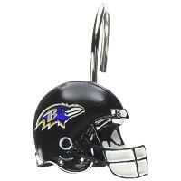 The Northwest Company NFL Baltimore Ravens Shower Curtain Rings by Northwest