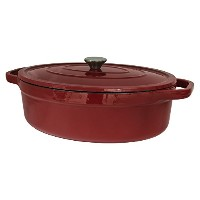 Useful UH-CI35 7 Quart Cast Iron Enamel Oval Covered Dutch Oven Casserole With Lid by Useful.