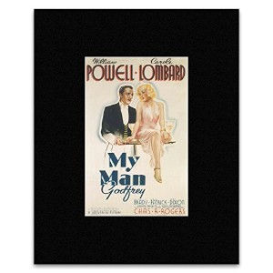 MY MAN GOD FREY - William Powell and Carole Lombard Mini Poster - 29.2x19cm