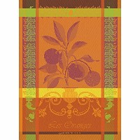 Garnier Thiebaut, Oranges Sanguine French Woven Kitchen / Tea Towel, 100 Percent Cotton by Garnier...