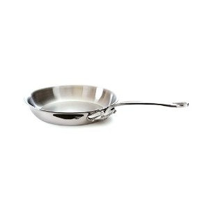 Mauviel M'Cook 5 Ply Stainless Steel 5213.24 9.5 Inch Round Frying Pan, Cast Stainless Steel Handle...