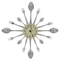 Forked Up Art P25 16-Dial Clock, Spoon/Fork [並行輸入品]