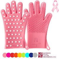 PINK Edition of Heavy-Duty Ladies' Silicone Oven Mitts | Profits Will Go To NBCF (read below) To...