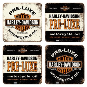 Harley Davidson Pre-Luxe ドリンクコースター4個セット (na)