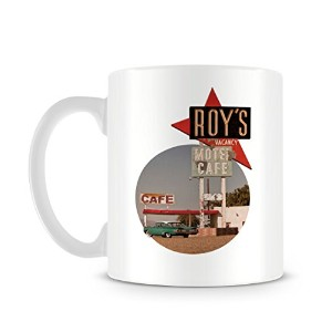 Retro Americana Motel and Cafe 1970s Classic Car Design マグカップ