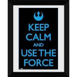 Star Wars - Keep Calm Use The Force Framed Mini Poster - 45.5x35.5cm