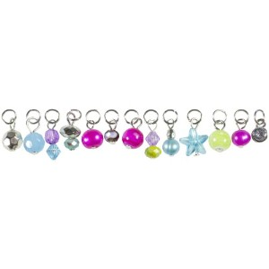 Tis The Season Acrylic/Glass Charms-Pink and Green Drops 13/Pkg (並行輸入品)