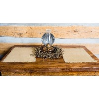 Deluxe Burlap Natural Tan Placemat - Set of 2 by Olivia's Heartland
