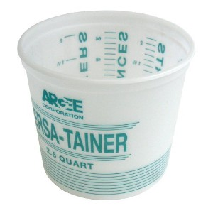 Argee RG518 12-Pack Versa-Tainer Plastic Bucket, White/Teal by Argee Corporation [並行輸入品]