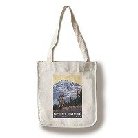 Mount Rainier – ハイカー Canvas Tote Bag LANT-19451-TT